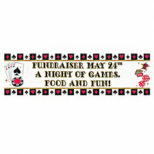5ft Casino Card Night Birthday Party Decoration Giant Personalised Banner