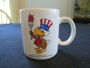 Sam the Olympic Eagle 1984 Olympic Games Coffee Mug Cup Los Angeles Torch Papel