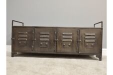 Industrial Metal Cabinet With Multi Drawer Retro Style Storage Furniture