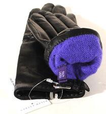Ralph Lauren Purple Label Black Leather Cashmere Lined Gloves Sz 6.5 $395 D1D