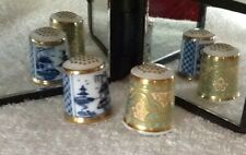 2 CROWN DERBY THIMBLES Historical Collection - Chinois & Victorian Persian