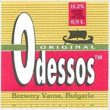 BULGARIA Pivzavod Varna Odessos Original Sailboat beer label C1550
