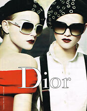 PUBLICITE ADVERTISING 045  2008   DIOR  collection lunettes solaires
