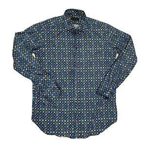 Etro Mens Long Sleeve Italian Made Button Up Dress Shirt EU Size 41