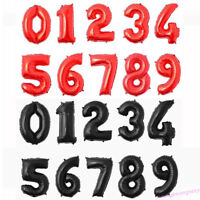 """32"""" Number 0-9 Helium Foil Balloons Birthday Holiday Wedding Decor DIY Party"""