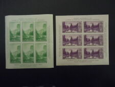 1934 #750 #751 Yosemite & Mt. Raineer Souvenir Sheets Mnh Og Vf Cv $50.00
