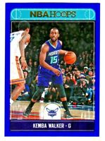 2017-18 Panini Hoops BLUE PARALLEL #73 KEMBA WALKER Charlotte Hornets
