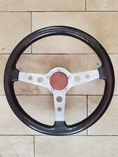 Holz- Lenkrad mit FIAT 124 Spider- Adapter / steering- wheel - wood + boss
