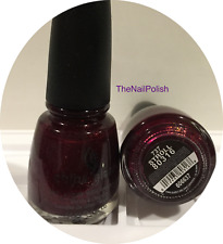 China Glaze Nail Polish * Stroll * 737 #80316 Ruby Red Shimmer Purple Wine RETRO