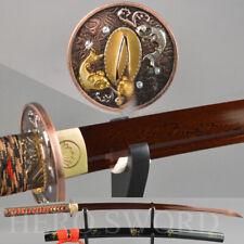 Damascus Folded Steel Japanese samurai sword Combat Ready Blade Katana Sharpened