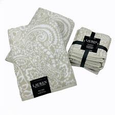 Ralph Lauren Tan Paisley Bath Hand Face Towel 6 Piece Set 100% Cotton