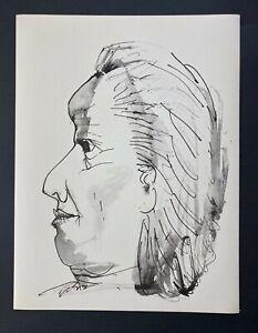 Pablo Picasso Original 1957 Lithograph 26/266 + Old Lady Profile
