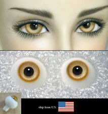 16mm amber color high quality glass bjd doll eyes dollfie minifee JS-01 shipUS
