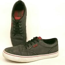 Vans Off the Wall TB4R Men's Size 8.5 Charcoal Textile Skate Shoes Low Top