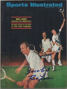 ROD LAVER signed 1968 Sports Illustrated AUTOGRAPH auto US OPEN NO LABEL Tennis