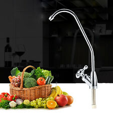 Kitchen Gooseneck Spout Rotary Faucet Mixer Tap For Undersink Water Filter Home