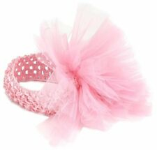 Mud Pie Little Girl Baby Pink Ballet Tulle Puff Hair Soft Headband 171938