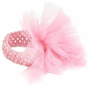 Mud Pie Little Girl Baby Pink Ballet Tulle Puff Hair Soft Headband 171938