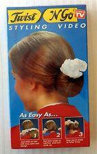 Twist 'N Go Styling Video ~ New VHS ~ Rare Vintage Bun Braid HairStyling Movie