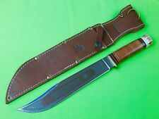 RARE US 2010 WINCHESTER MARBLES Huge Engraved Hunting Fighting Knife Sheath Box