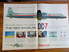 1953 DC-7 Airliner Ad The New DC-7 1953 Motorola Hi-Fi Radio Phonograph Ad