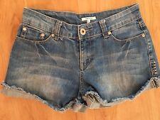 Ladies Blue Denim VALLEYGIRL Shorts Size 8 Short Cut Off Faded