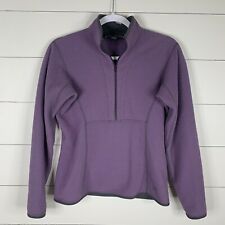 Arc'teryx Womens Purple Sz Medium 8/10 Long Sleeve Half Zip Pullover Sweatshirt