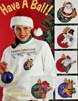 1993 Counted Cross Stitch Pattern Booklet Have A Ball! 6 Christmas Designs 6275F