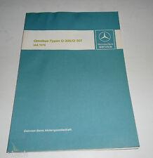 Werkstatthandbuch Einführung Neuerungen Mercedes Benz Omnibus Bus O 305 O 307
