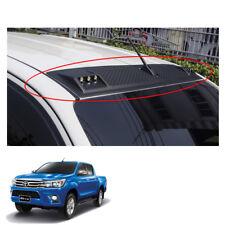 2015 18 Front Roof Spoiler Cover LED Black Trim 1Pc Fits Toyota Hilux Revo SR5