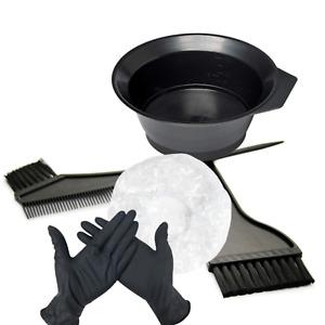 3 PCS Hair Color Mixing Bowl Set Professional Tint Dying Applicator Brush + More