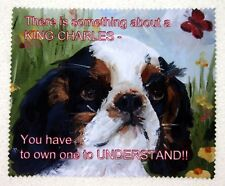 KING CHARLES SPANIEL tri DOG GLASSES CAMERA BINOCULAR FIBRE LENS CLEANER Cloth