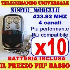 AUTOAPPRENDENTE TELECOMANDO MHZ 433 10 CANCELLO GARAGE PER FAAC CAME FADINI ys