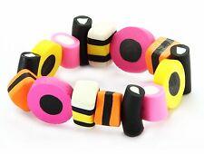 Liquorice Allsorts Stretch Bracelet, Funky Fashion Jewellery, Kitsch Bracelet