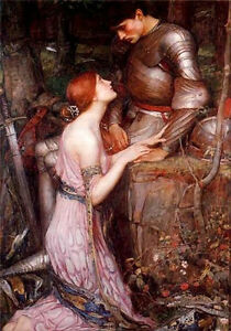 """Large lamia john william waterhouse repro oil painting no framed canvas 36"""""""