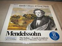 Family Library of Great Music Mendelssohn #11 LP EX w/Booklet FW-311 1966