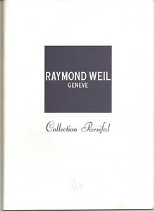 """Raymond Weil """"Collection Parsifal"""" 24 Pg Watch Catalog From 2000 With Price List"""