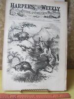 Vintage Print,NATURAL HISTORY,Thomas Nast,Harpers,Politics,March 1878
