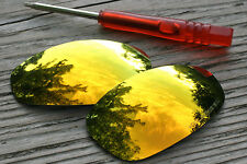 Fire Orange Gold Polarized Mirror Replacement Sunglass Lenses for Oakley Juliet