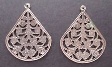 Earrings Triangular and Circle Combined Ornate Detail - Pair - Jewelry New