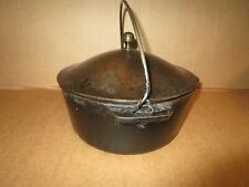 antique 1930's cast iron Griswold kettle with lid