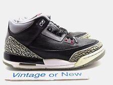 Nike Air Jordan III 3 Black Cement Retro GS 2011 sz 6Y