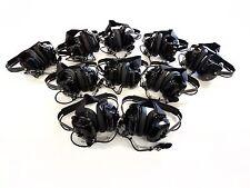 Lot of 10 Rugged Radios Black Headset - NASCAR Electronic Racing Communication