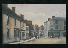 Somerset CASTLE CARY Market Place George Hotel & locals c1900s Unposted PPC