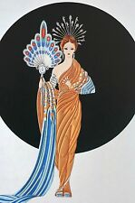Erte 1987 ALTHENA GODDESS of LOVE Wall Art Deco Matted Print Ready to Frame