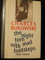 The Night Torn Mad With Footsteps Charles Bukowski 1st Ed. #301/500 with Print
