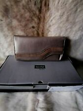 Van Dal Leather Taupe & Lizard Print Bag - Still in Box With Dust Bag