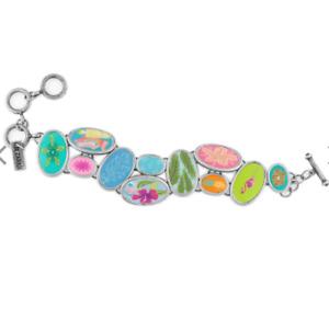 NEW JILZARA Premium Handmade Clay Bead TAHITI MULTI COBBLESTONE TOGGLE Bracelet