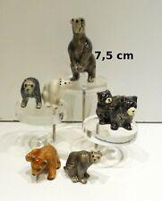 lot de six ours en porcelaine, figurine,collection,animal sauvage, beer T4