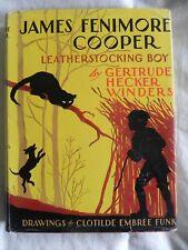 James Fenimore Cooper LEATHERSTOCKING BOY hcdj COFA Childhood Famous Americans